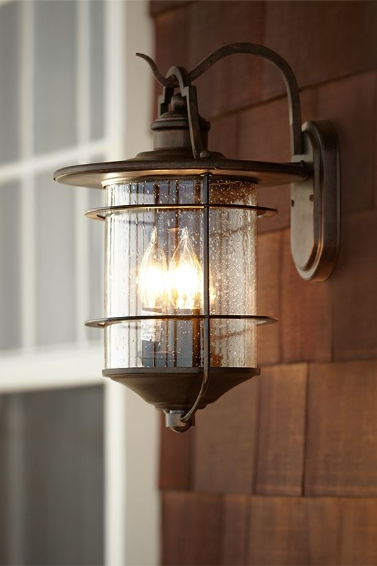 Inspired by rustic designs, this outdoor light adds a traditional ...