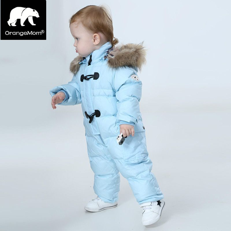 80906e5d5345 Orangemom jumpsuit kids winter baby snowsuit + nature fur