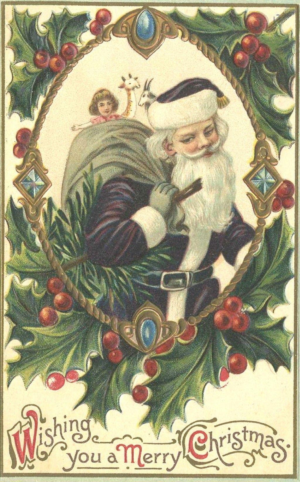 free floral vintage christmas cards  vintage christmas