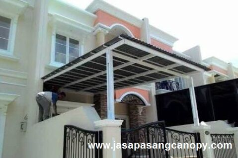 Kanopi Baja Ringan Tangerang Jasa Pasang Aluminium Kaca Canopy