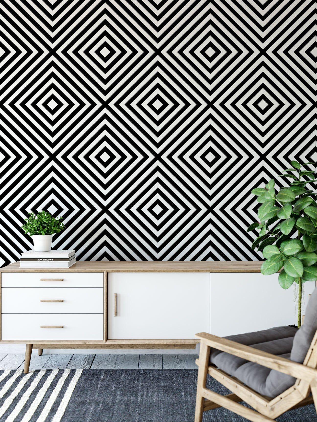 Geometric Wallpaper Removable Wallpaper Modern Wallpaper Bathroom Wallpaper Peel And Stick Self Adhesive Wallpaper 127 Modern Wallpaper Geometric Wallpaper Removable Wallpaper