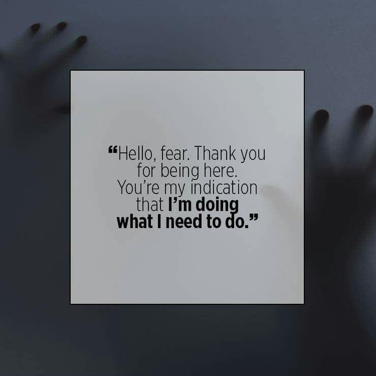 Hello fear.