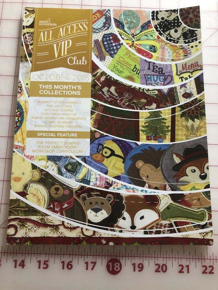 All Access OCTOBER 2015 Anita Goodesign Machine Embroidery Designs CD