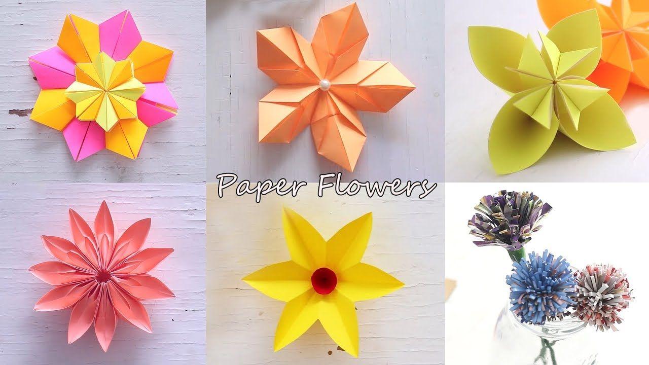 6 Easy Paper Flowers Flower Making Diy Paper Flowers Paper