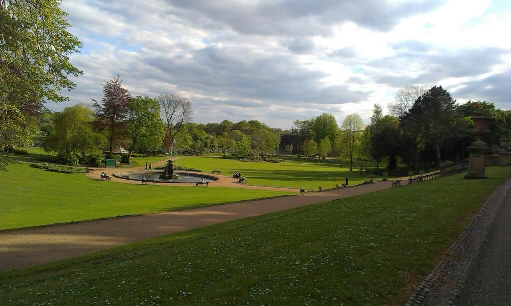 Miller Park, Preston, looking ace in the late afternoon sunshine.