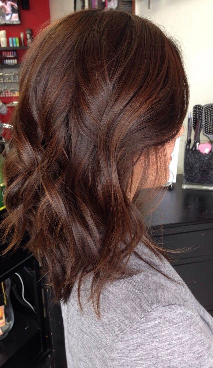 Burnette hair color style trends in hair coloring