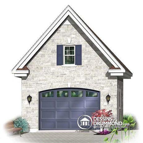 W2979-15 - Garage simple avec rangement boni à l\u0027étage