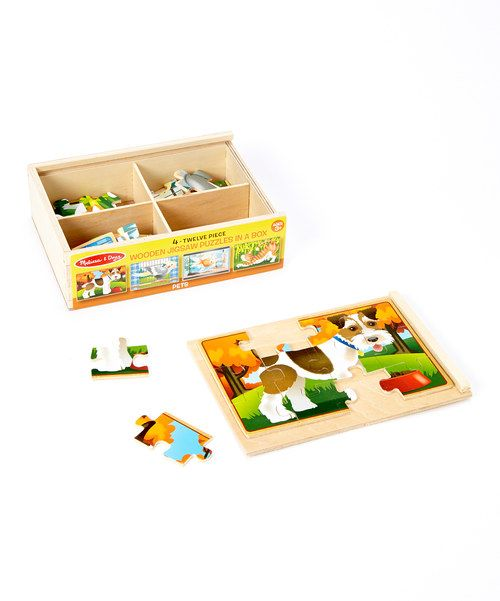 Look at this Melissa & Doug Pet Puzzles Box Set on #zulily today!