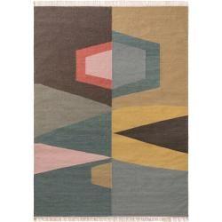 Photo of benuta wool carpet Ella Multicolor 140×200 cm – natural fiber carpet made of wool benuta