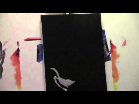 """Open Heart"" how to paint a black and gray hand using acrylic paint. - YouTube"