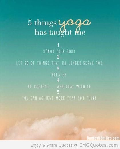 Check Out These 5 Things Yoga Taught You