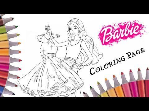 раскраска мультик барби модница видео раскраски барби для