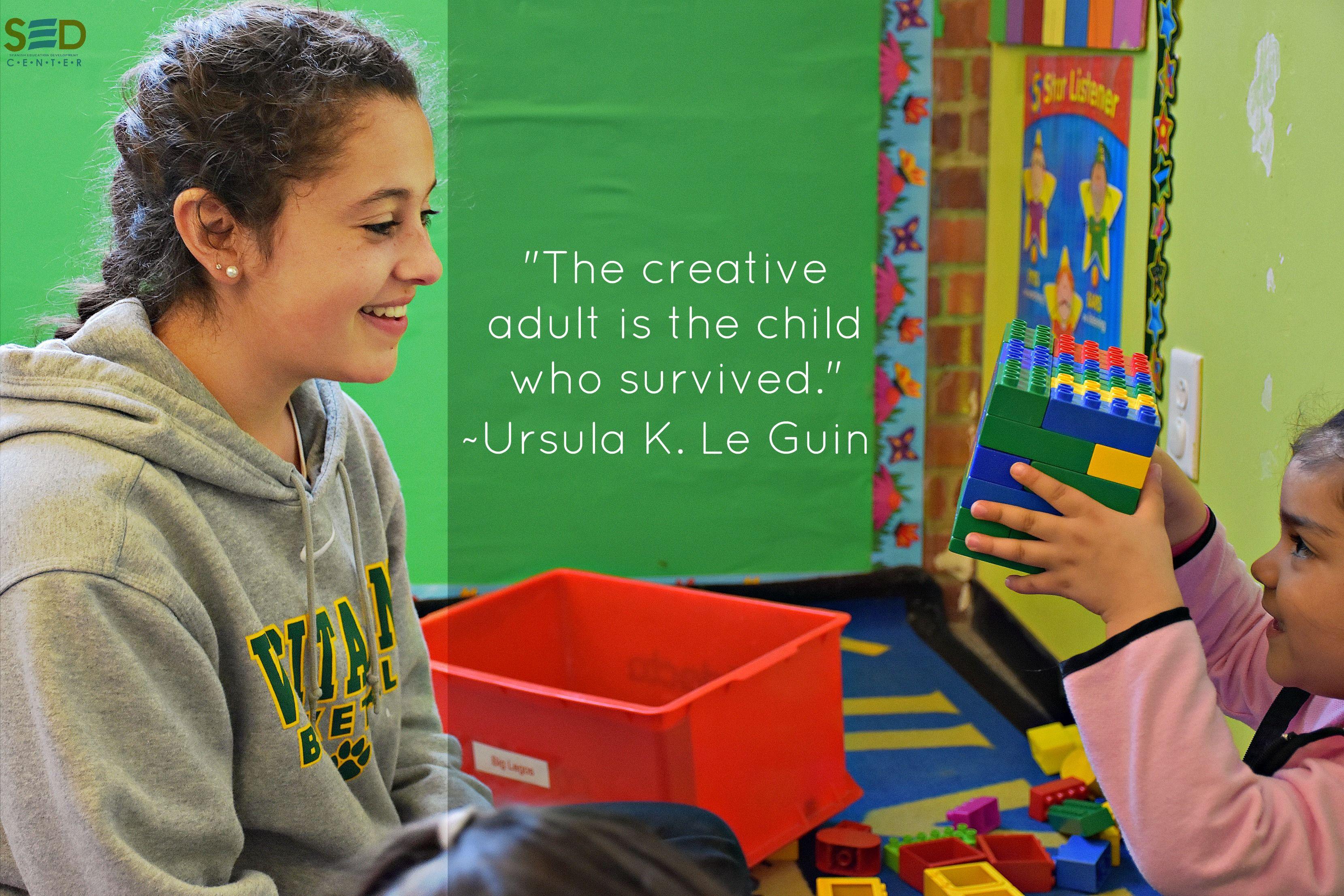 """""""El adulto creativo es el niño que sobrevivió."""" - Ursula K. Le Guin #aCreativeDC #SEDCenter #DailyQuote #UrsulaKLeGuin #UrsulaKLeGuinQuotes #Petworth"""