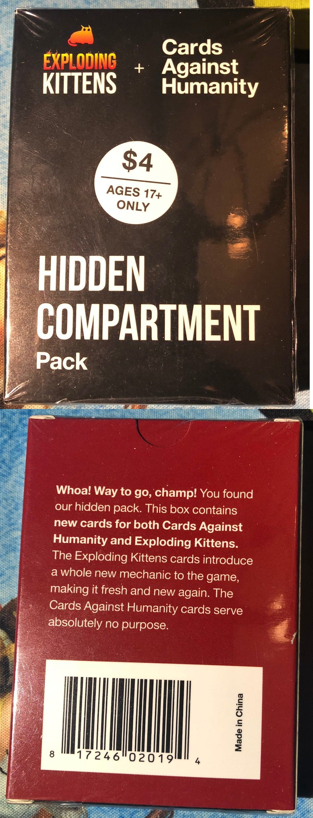 Games 233 Exploding Kittens Cards Against Humanity Hidden Compartment Pack New Buy It Now Exploding Kittens Hidden Compartments Cards Against Humanity