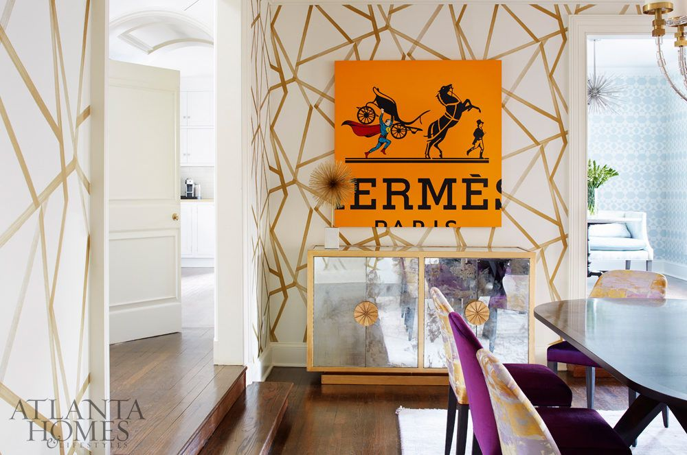 Harlequin's Sumi wallpaper makes a bold statement in the