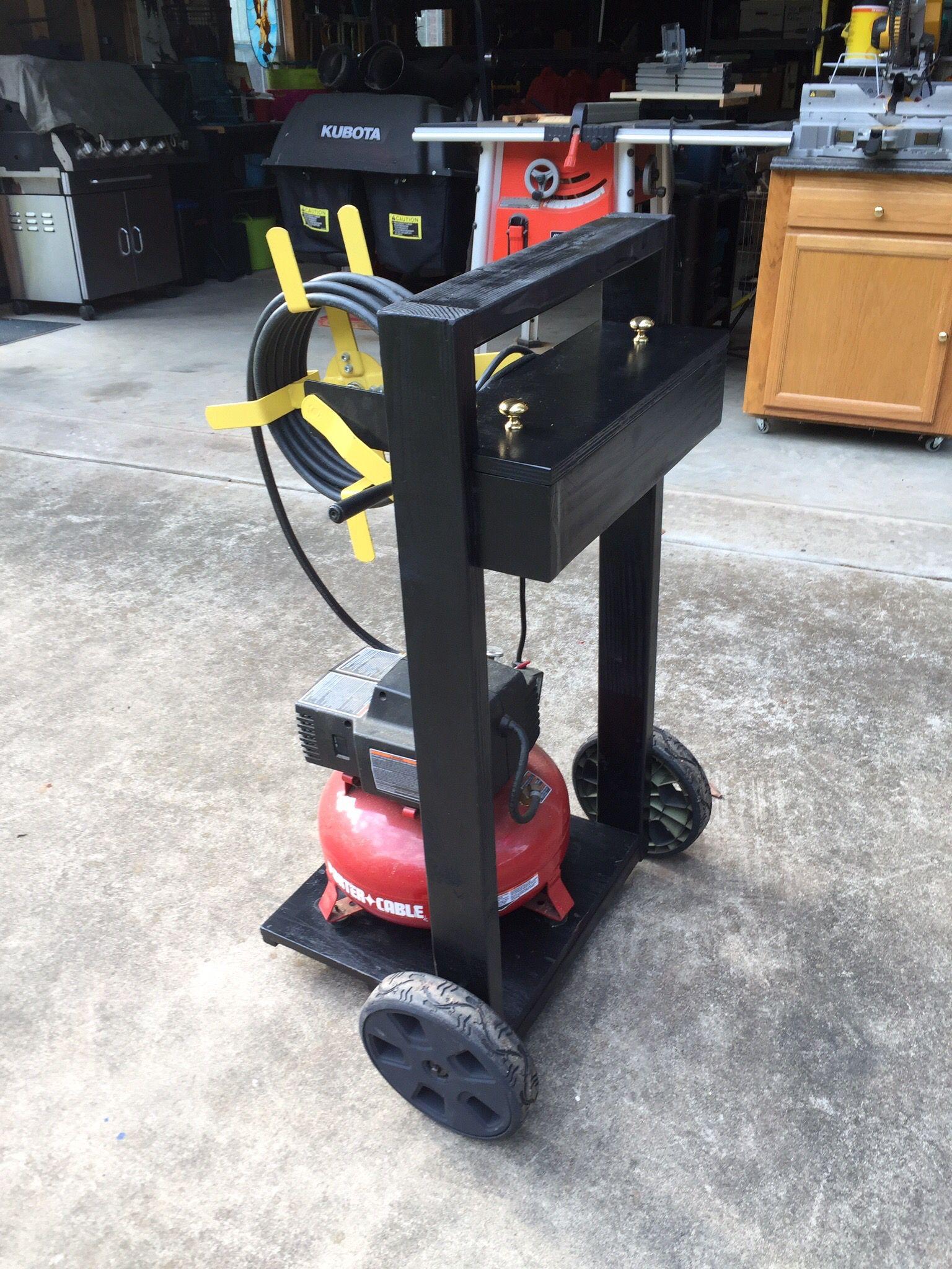 Air compressor cart Garage makeover, Tool sheds