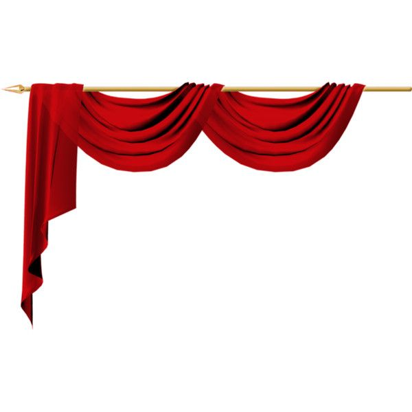 Red Curtain Liked On Polyvore Featuring Curtains Filler