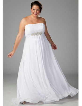 Piniful Plus Size Beach Wedding Dresses 08 Plussizefashion