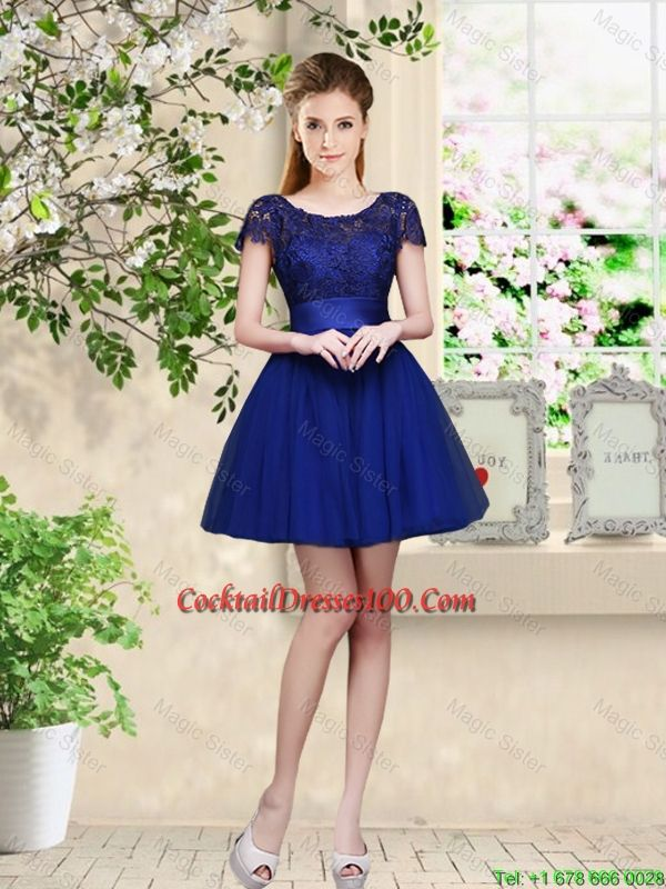 Popular Cocktail Dress Blue with Sleeves-Buy Cheap Cocktail Dress ...