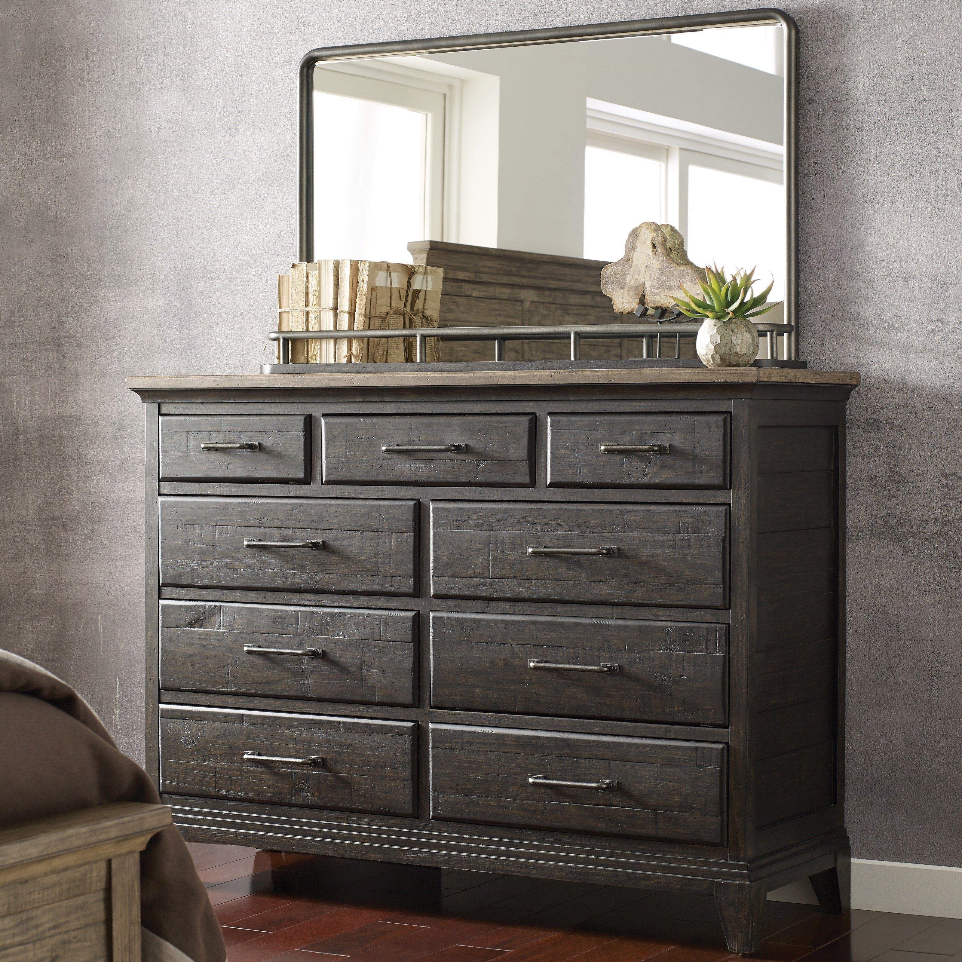 Plank Road Westwood Bureau and Mirror Set by Kincaid Furniture