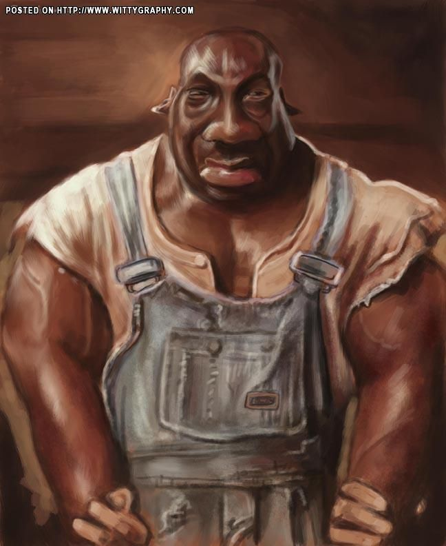 The Green Mile Michael Clarke Duncan Funny Caricatures Caricature Caricature Sketch