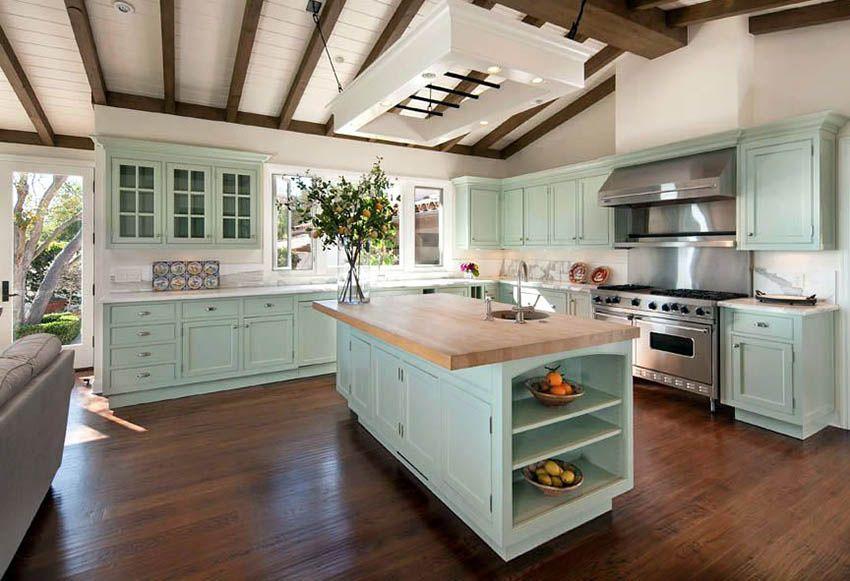 31+ Green cabinets butcher block ideas in 2021