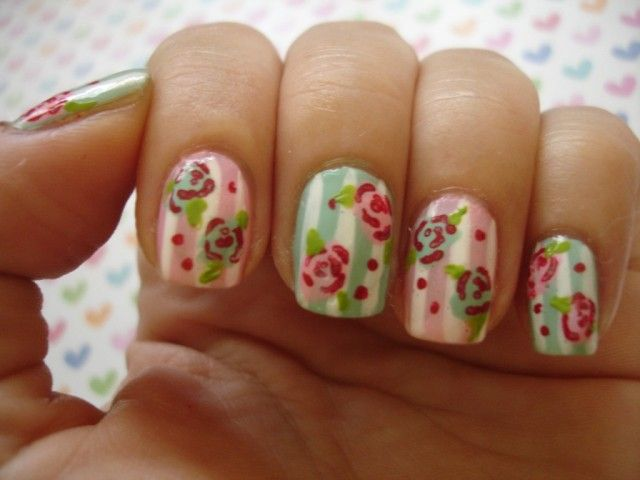 20 beautiful floral nail designs with vintage glamour vintage 20 beautiful floral nail designs with vintage glamour prinsesfo Image collections