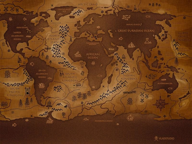 Free HD Wallpapers For Your Computer: Old World Map In