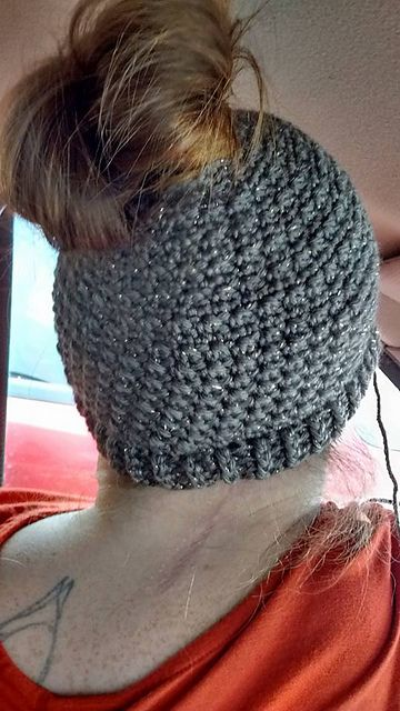 I Used Caron Simply Soft Party Yarn In Chocolate Sparkle For