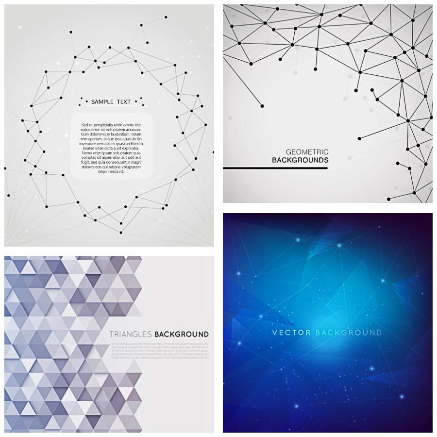 Geometric background structure set vector template geometric geometric template modern background set vector stopboris Image collections