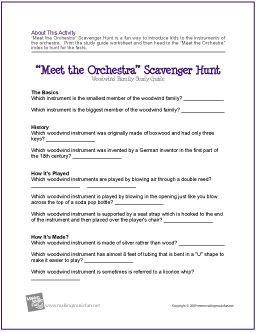 Meet the Orchestra Scavenger Hunt