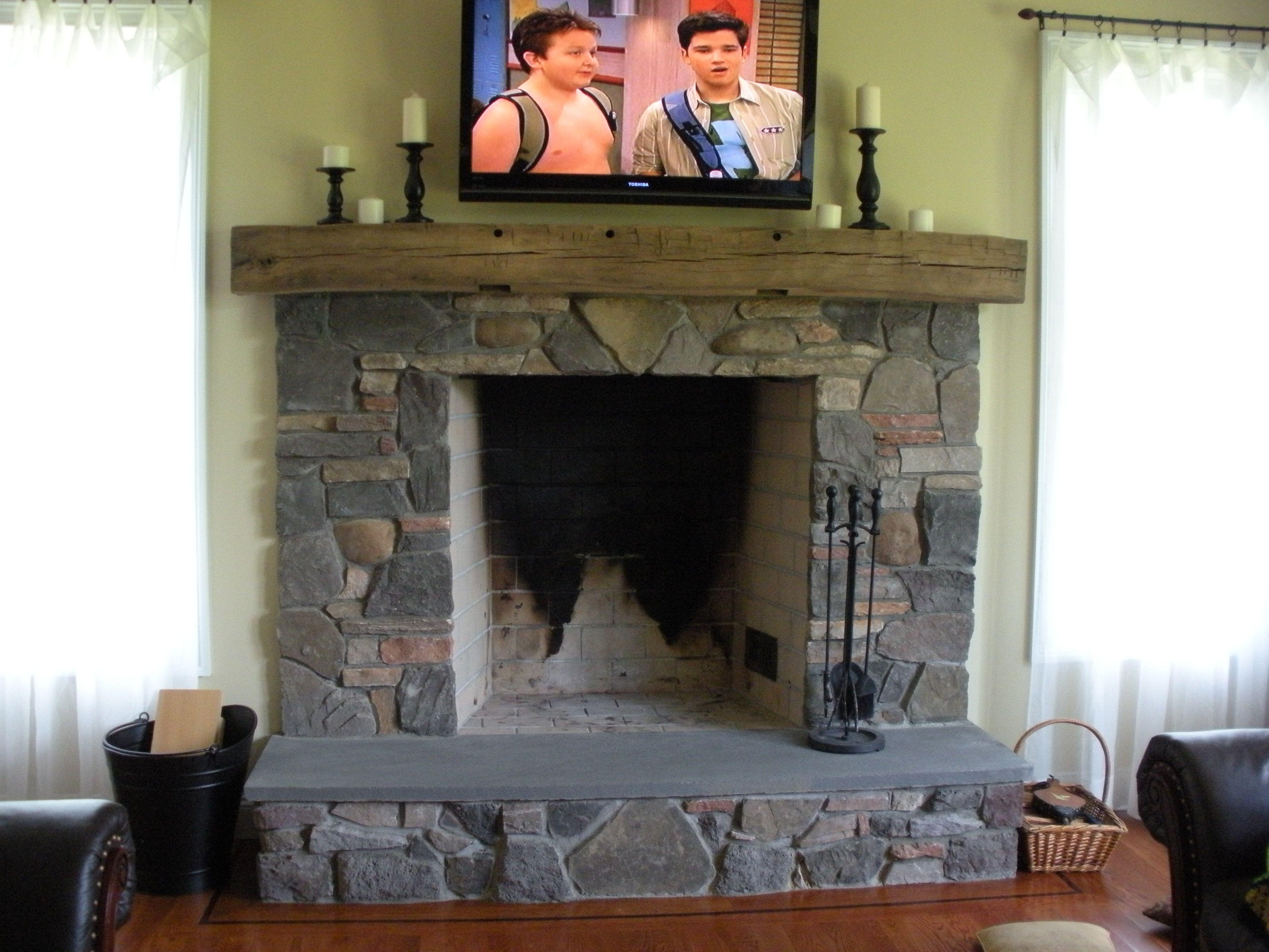 cool fireplace | Fireplace design, Fireplace, Stone fireplace