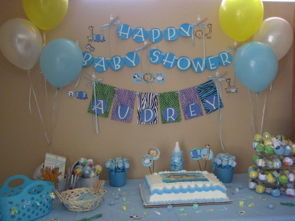 Baby shower decoration ideas for boy baby shower for Baby decoration ideas