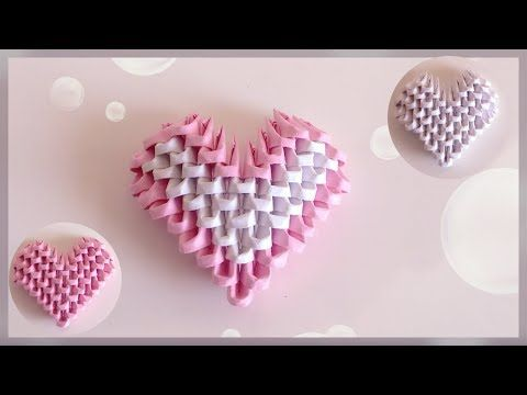 How To Make 3D Origami Heart DIY Tutorial