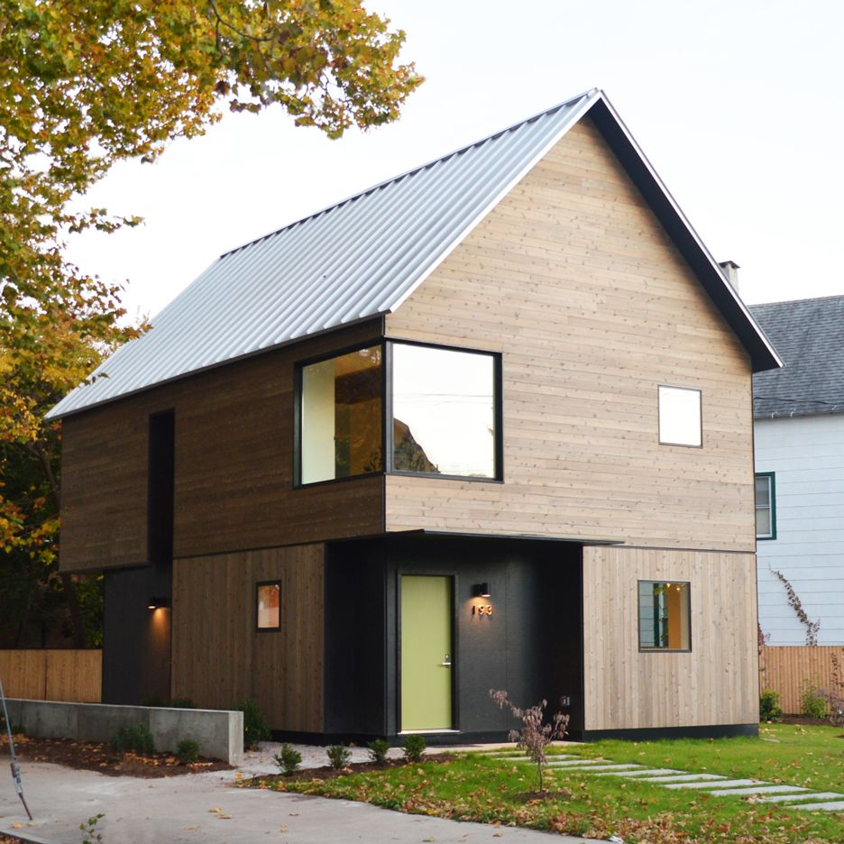 Cedar clad house by yale students could serve as a model for affordable housing