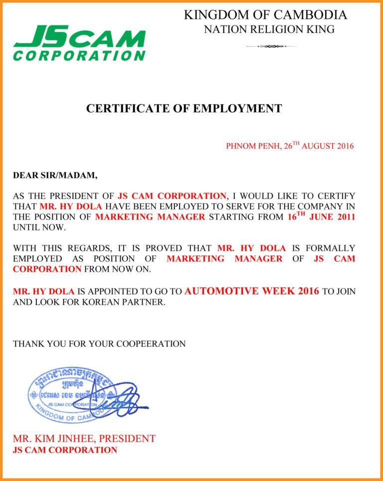 029 Certificate Of Employment Template Impressive Ideas Free With Certificate Of Employment Template Business Plan Templates Certificate Templates Employment