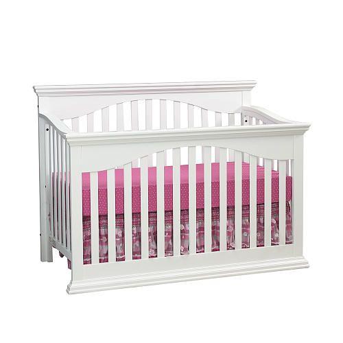 Essentials Greenwich Lifetime Crib White Baby Cache