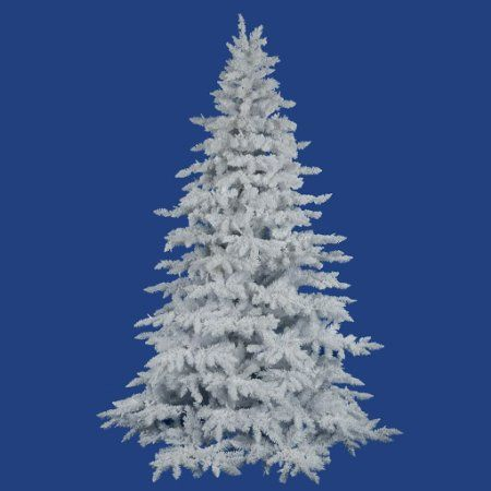 amazoncom flocked white spruce full unlit christmas tree - Amazon Christmas Tree Stand