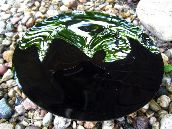 Black Scrying Mirror Handcrafted 10 Concave with by NewMoonTarot