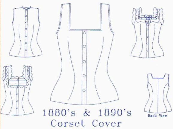 Corset Cover Pattern: Victorian Sewing Pattern, Multi Sized ...