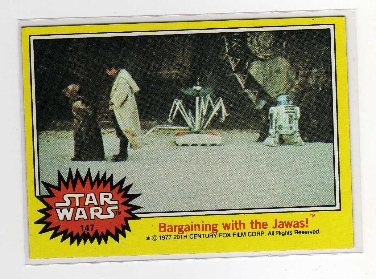 star wars cards 1977 price