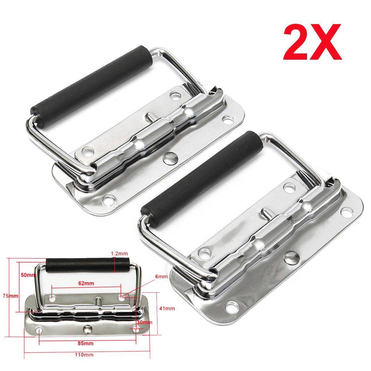 2Pcs 11cm x 7.5cm Metal Spring Loaded Toolbox Door Puller Chest Handle Grip  sc 1 st  Pinterest & 2Pcs 11cm x 7.5cm Metal Spring Loaded Toolbox Door Puller Chest ...