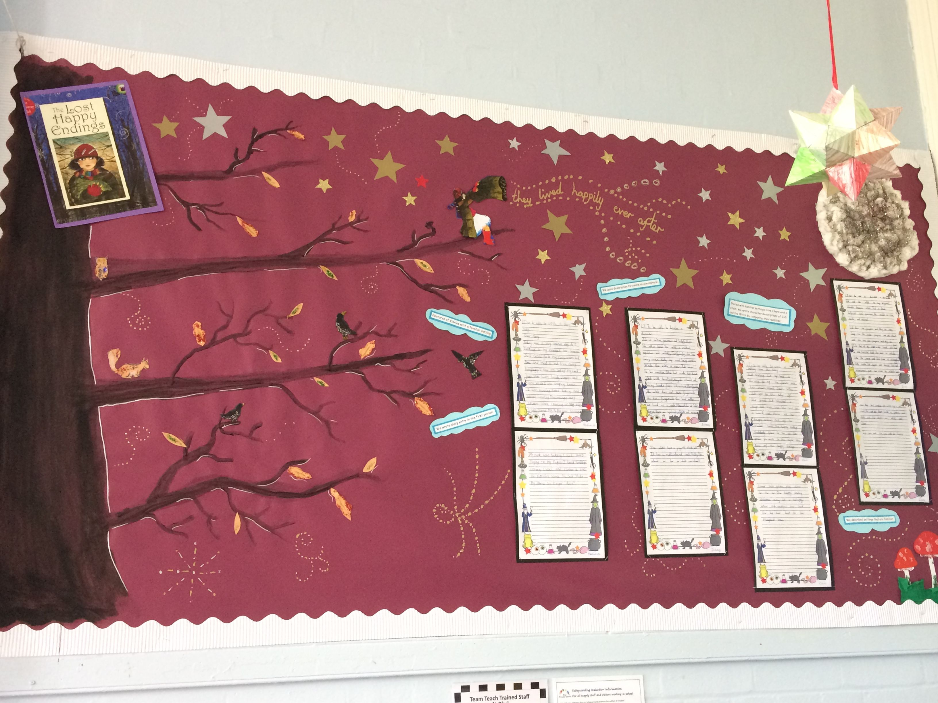 Classroom Decorating Ideas High School ~ Quot the lost happy endings display year my primary