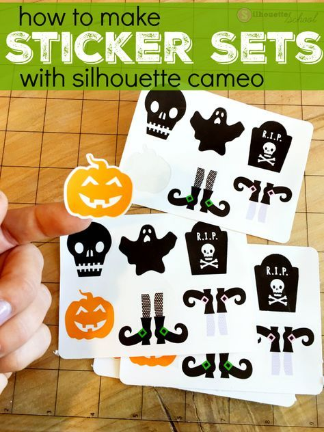 How to make print and cut sticker sets silhouette studio v4 tutorial silhouettes custom stickers and silhouette projects