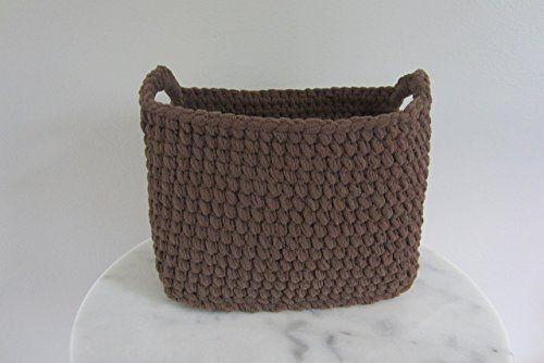 Large Basket Rectangle Basket Crocheted Storage Bin Toilet Tank Holder Toilet Paper Or Use For Diapers Dv Crochet Storage Bin Crochet Storage Large Baskets