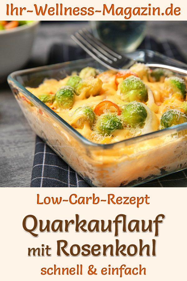 Quarkauflauf mit Rosenkohl - herzhaftes, gesundes Low-Carb-Rezept