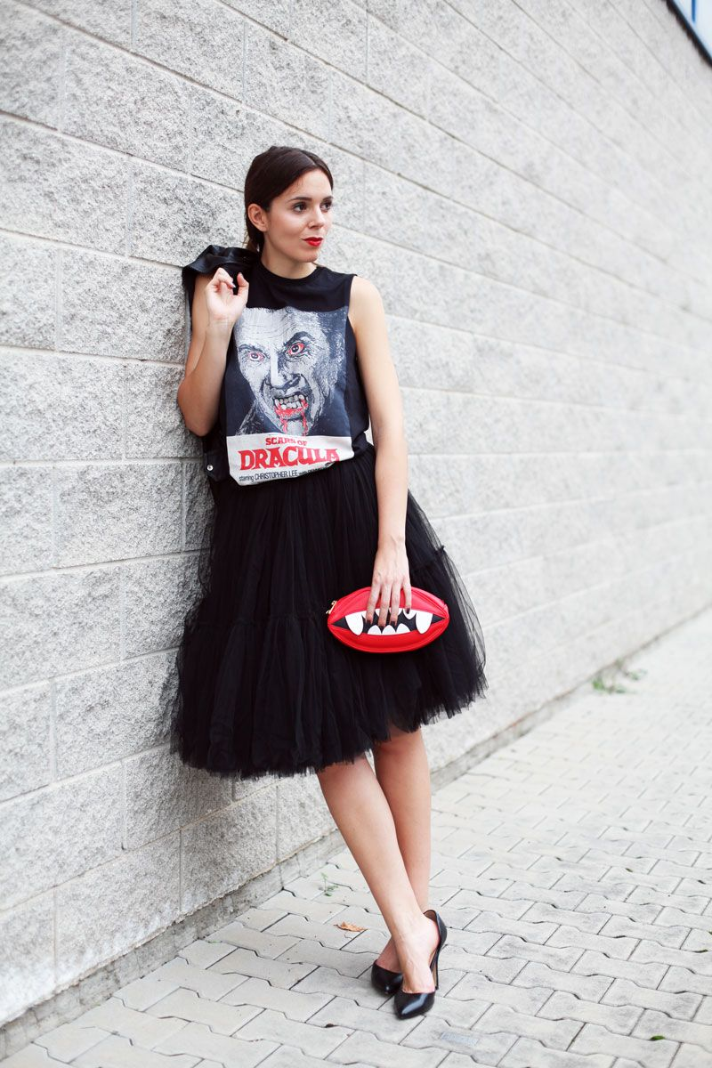 Halloween look asos halloween outfit scary fashion leather ...