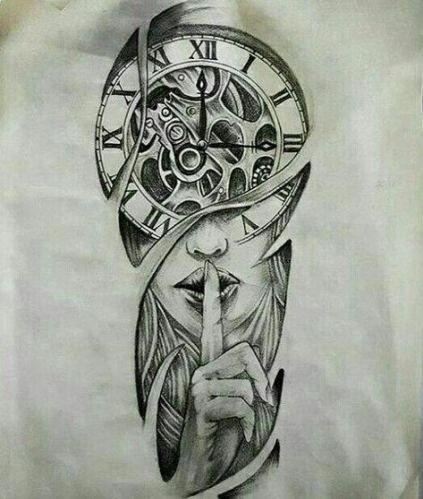 33 Of The Most Designed Clock Tattoos Di 2020 Ide Tato Tato Lengan