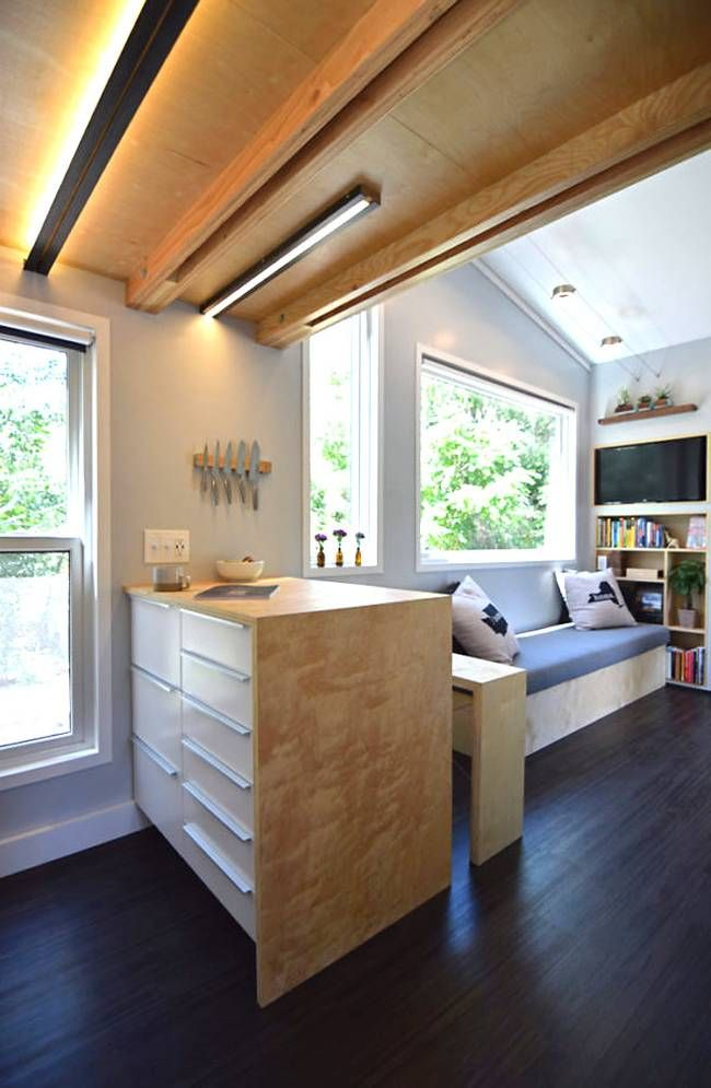 Shedsistence. Couple builds their own adventurous 204 sq. ft. modern shed home.