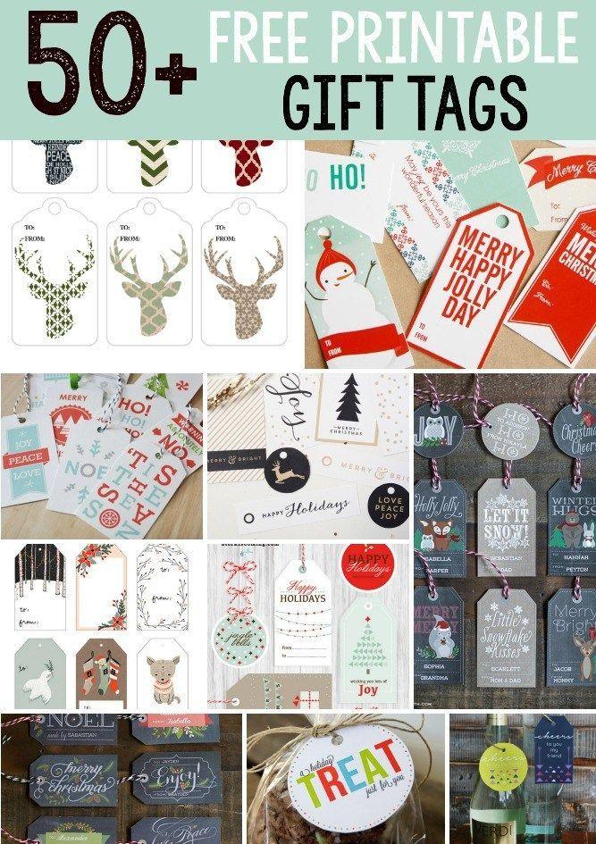 50 Free Printable Holiday Gift Tags #50freeprintables 50 Free Printable Holiday Gift Tags – Scrap Booking #50freeprintables
